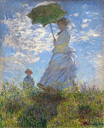 Monet | Woman with a Parasol - Madame Monet and Her Son | Giclée Canvas Print