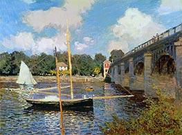 Monet | The Bridge at Argenteuil | Giclée Canvas Print