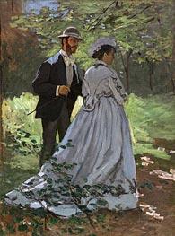 Monet | Bazille and Camille (Study for 'Déjeuner sur l'Herbe') | Giclée Canvas Print