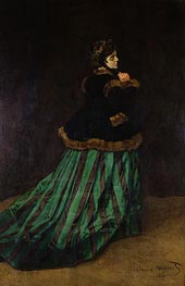 Monet | Camille (The Woman in the Green Dress), 1866 by | Giclée Canvas Print
