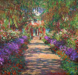 Monet | Pathway in Monet's Garden at Giverny | Giclée Canvas Print