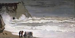 Monet | Rough Sea at Etretat | Giclée Canvas Print
