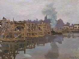 Monet | Argenteuil, the Bridge under Repair | Giclée Canvas Print