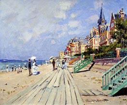 Monet | The Boardwalk at Trouville | Giclée Canvas Print