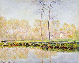 Monet | The Banks of the River Epte at Giverny, 1887 | Giclée Canvas Print