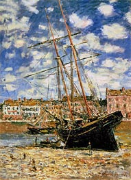 Monet | Ship Aground, 1881 | Giclée Canvas Print