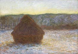Monet | Stack of Wheat (Thaw, Sunset) | Giclée Canvas Print