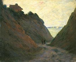 Monet | The Sunken Road in the Cliff at Varengeville, undated | Giclée Canvas Print