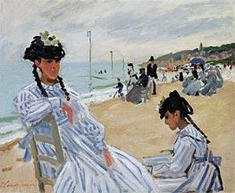 Monet | On the Beach at Trouville, 1870 | Giclée Canvas Print