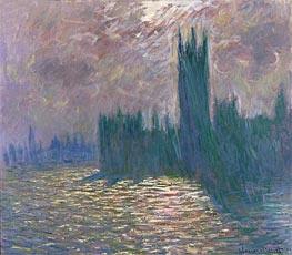 Monet | London. Parliament. Reflections on the Thames, 1905 | Giclée Canvas Print