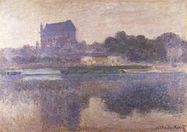 Monet | Vernon Church in Fog, 1893 | Giclée Canvas Print