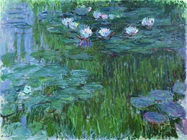 Monet | Water Lilies, c.1914/17 | Giclée Canvas Print