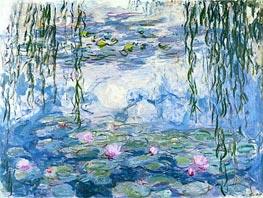 Monet | Water Lilies, c.1916/19 | Giclée Canvas Print
