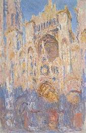 Monet | Rouen Cathedral, Effects of Sunlight, Sunset, 1892 | Giclée Canvas Print