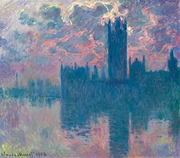 Monet | Houses of Parliament, Sunset, 1902 | Giclée Canvas Print
