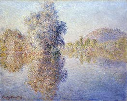 Monet | Early Morning on the Seine at Giverny, 1893 | Giclée Canvas Print
