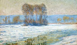 Monet | The Seine at Bennecourt, Winter, undated | Giclée Canvas Print