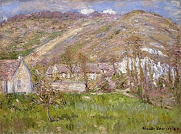 Monet | Hamlet on a Cliff near Giverny , 1883 | Giclée Canvas Print
