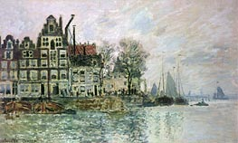 Monet | The Port of Amsterdam, c.1873 | Giclée Canvas Print