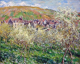 Monet | Apple Trees in Blossom, 1879 | Giclée Canvas Print