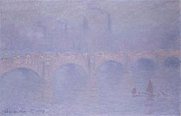 Monet | Waterloo Bridge, Hazy Sunshine, 1903 | Giclée Canvas Print
