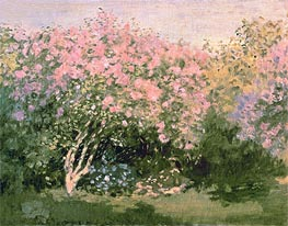 Monet | Lilac in the Sun, 1873 | Giclée Canvas Print