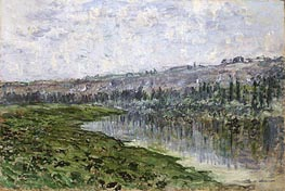 Monet | The Seine and the Hills of Chantemsle, 1880 | Giclée Canvas Print