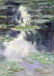 Monet | Pond with Water Lilies, 1907 | Giclée Canvas Print