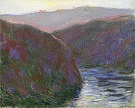 Monet | The Creuse Valley, Evening Effect, 1889 | Giclée Canvas Print