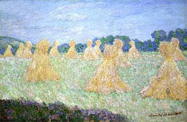 Monet | Haystacks, The Young Ladies of Giverny, Sun Effect, undated | Giclée Canvas Print