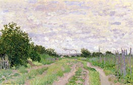 Monet | Path through the Vines, Argenteuil, 1872 | Giclée Canvas Print