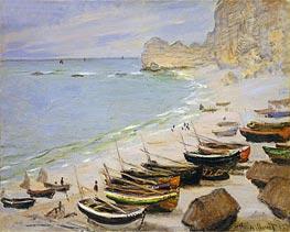 Monet | Boats on the Beach at Etretat, 1883 | Giclée Canvas Print