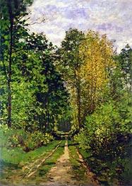 Monet | Wooded Path, 1865 | Giclée Canvas Print