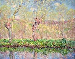 Monet | Spring, River Bank at Epte, 1885 | Giclée Canvas Print