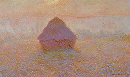 Monet | Haystacks, Sun in the Mist, 1891 | Giclée Canvas Print