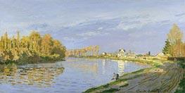 Monet | The Seine at Bougival, 1872 | Giclée Canvas Print