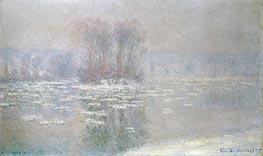 Monet | Ice at Bennecourt, 1898 | Giclée Canvas Print