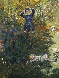 Monet | Camille and Jean in the Garden at Argenteuil, undated | Giclée Canvas Print