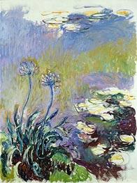 Monet | The Agapanthus, c.1914/17 | Giclée Canvas Print