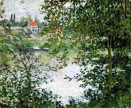 Monet | Ile de La Grande Jatte Through the Trees, 1878 | Giclée Canvas Print