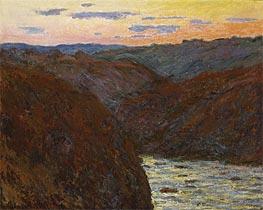 Monet | The Creuse, Sunset, 1889 | Giclée Canvas Print