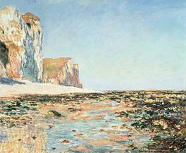 Monet | Seashore and Cliffs of Pourville in the Morning, 1882 | Giclée Canvas Print