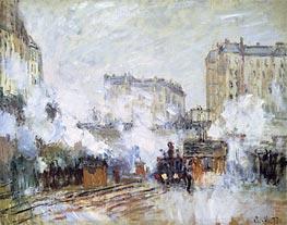 Monet   Gare Saint-Lazare, Arrival of a Train, 1877   Giclée Canvas Print