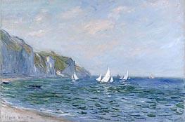 Monet   Cliffs and Sailboats at Pourville, 1882   Giclée Canvas Print