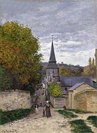 Monet   Street in Sainte-Adresse, c.1868/70   Giclée Canvas Print