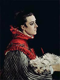 Monet | Camille Monet in a Red Cape, 1866 | Giclée Canvas Print