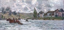 Monet   Village of Lavacourt near Vetheuil, 1878   Giclée Canvas Print