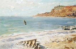 Monet   Seascape at Sainte-Adresse, undated   Giclée Canvas Print