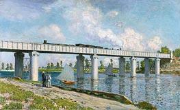 Monet   Railway Bridge at Argenteuil, 1873   Giclée Canvas Print