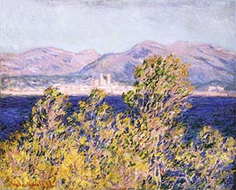 Monet | View of the Cap d'Antibes with the Mistral Blowing, 1888 | Giclée Canvas Print